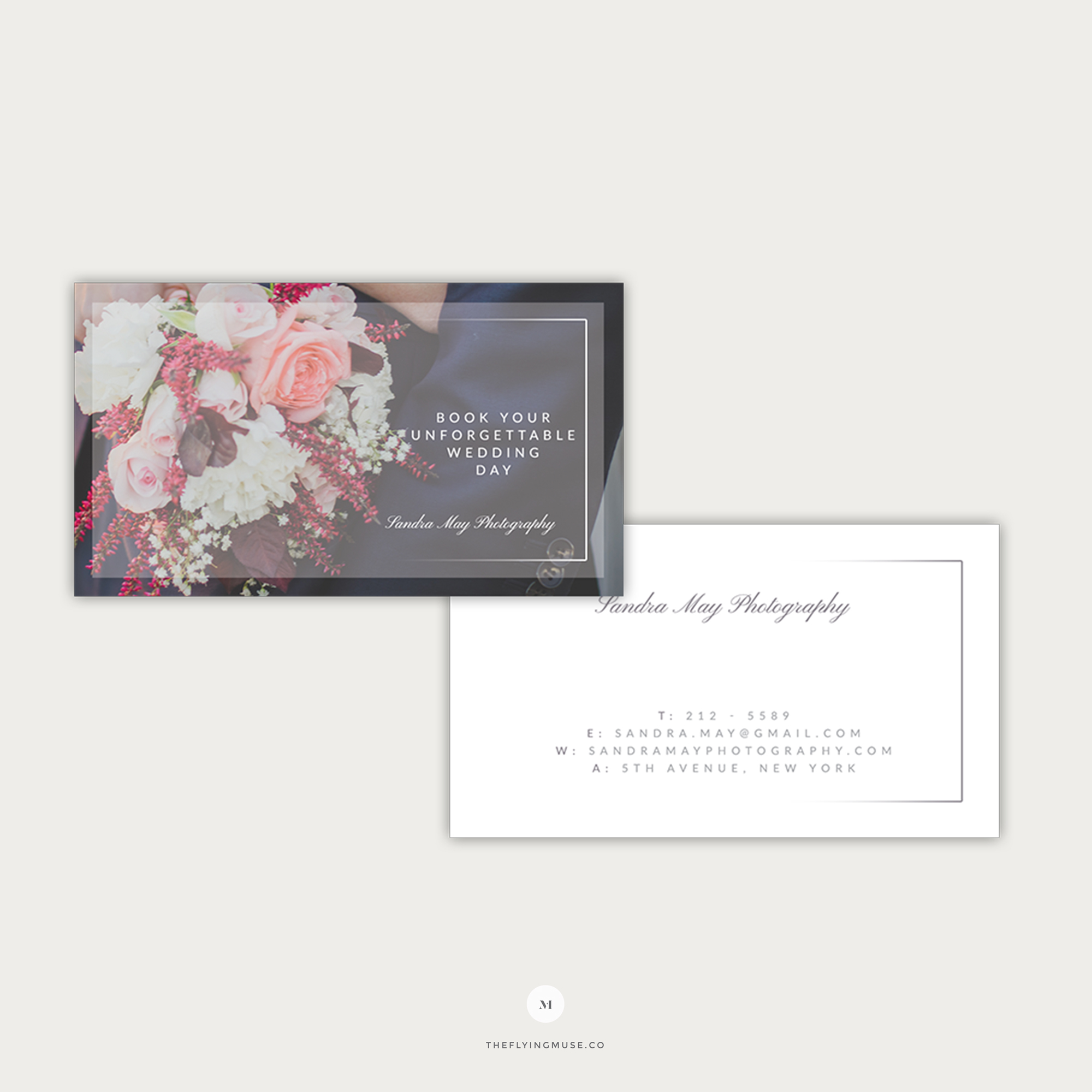 Elegant Wedding Business Cards for Photographers  the