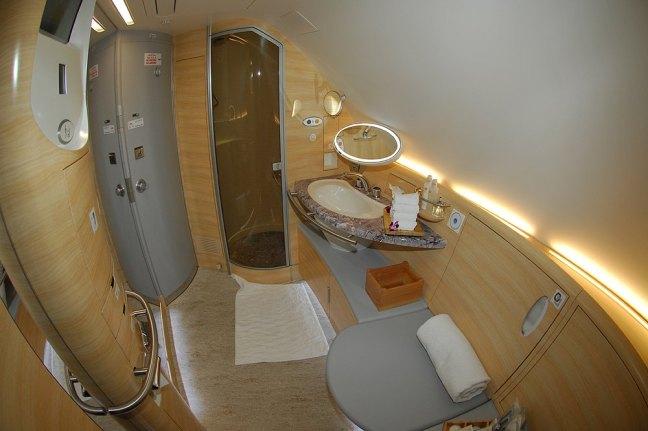 Showering at ThirtyFive Thousand Feet Emirates Style