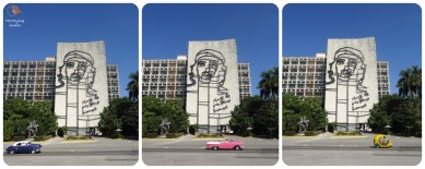 La Plaza de la Revolución, Che and the cars