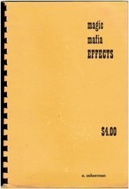 Allan Ackerman Magic Mafia Effects Book