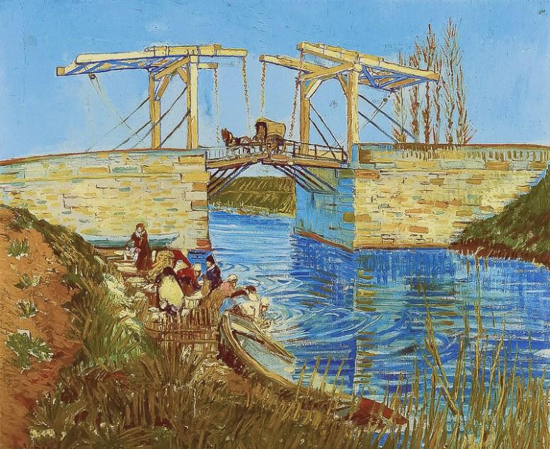 Van Gogh's Pont de Langlois [wikipedia - Kröller Müller]