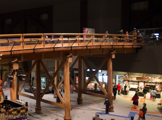 Replica Edo-Tokyo bridge at the Edo-Tokyo museum, Tokyo. [photo - Jerry Everard]