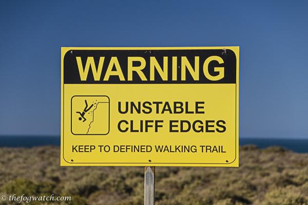 Unstable cliff edges