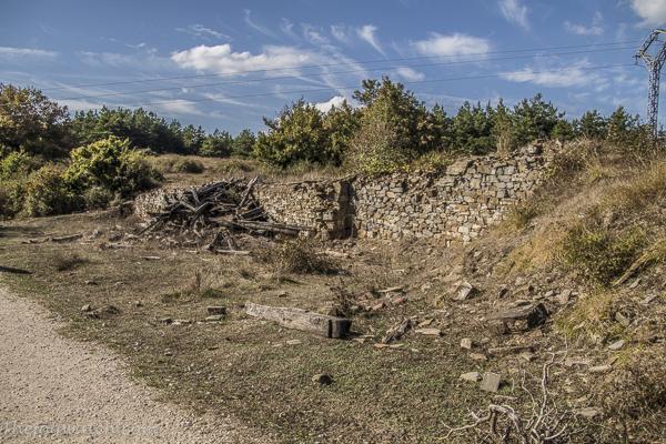ruined pilgrim shelter