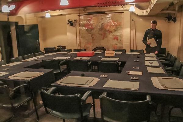 Map Room - Churchill's war rooms