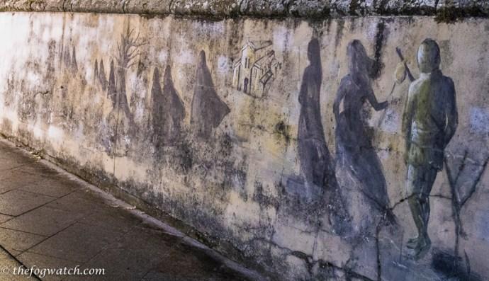 wall mural at Sarria