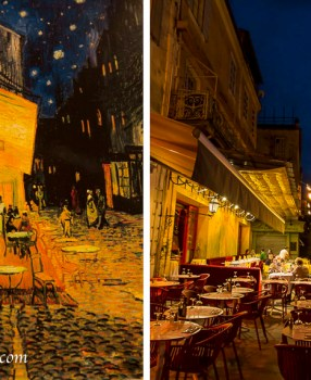 Arles: Van Gogh's CafeTerrace at Night – then and now