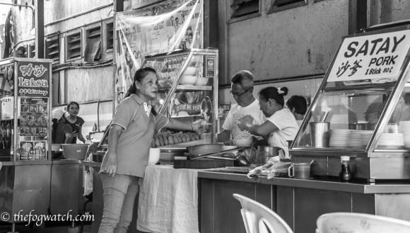 Food stand in Kuching, Malaysia