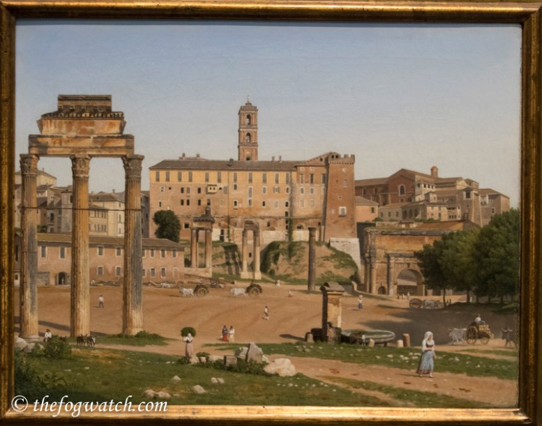 The Roman Forum - by Christoffer Wilhelm Eckersberg (1814) in National Gallery of London