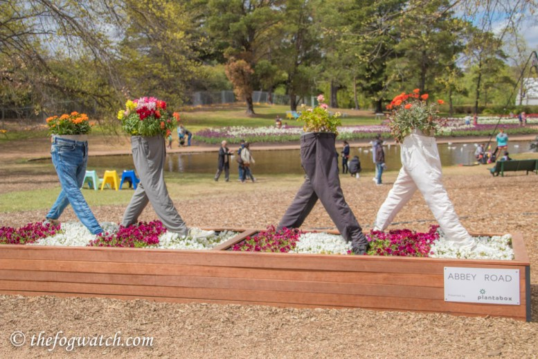 Floriade tribute to The Beatles Abbey Road