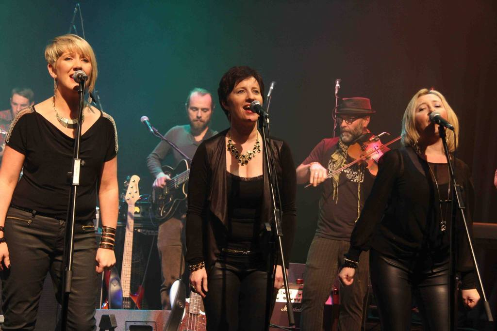 Vocalase performing at Dunamaise Arts Centre for The Telewhackers Fundraiser