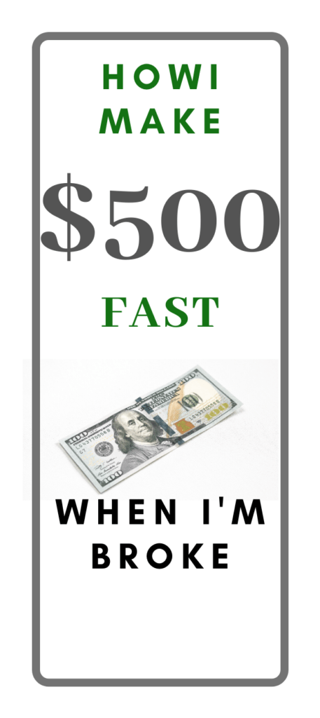 MAKE $500 FAST WHEN YOU'RE BROKE! — The F Online