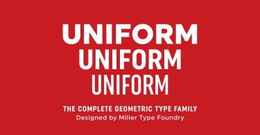Uniform [18 Fonts]