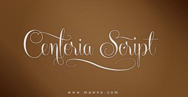 Centeria Script [12 Fonts]