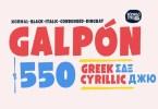 Galpon [9 Fonts]