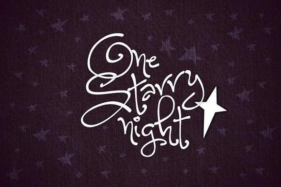 One Starry Night [Thefontsmaster.com]