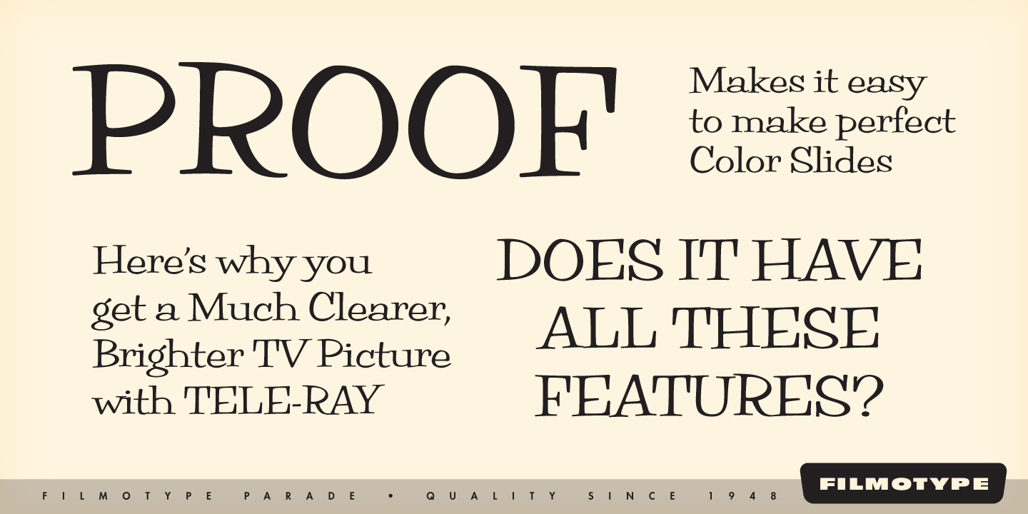 Download Filmotype Brooklyn Font Free Download | Added By