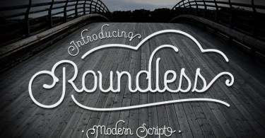 Roundless Script [2 Fonts + Extra]