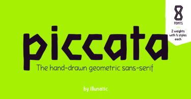 Piccata [8 Fonts]