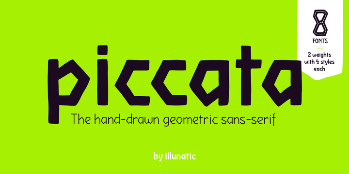 Piccata [8 Fonts] | The Fonts Master