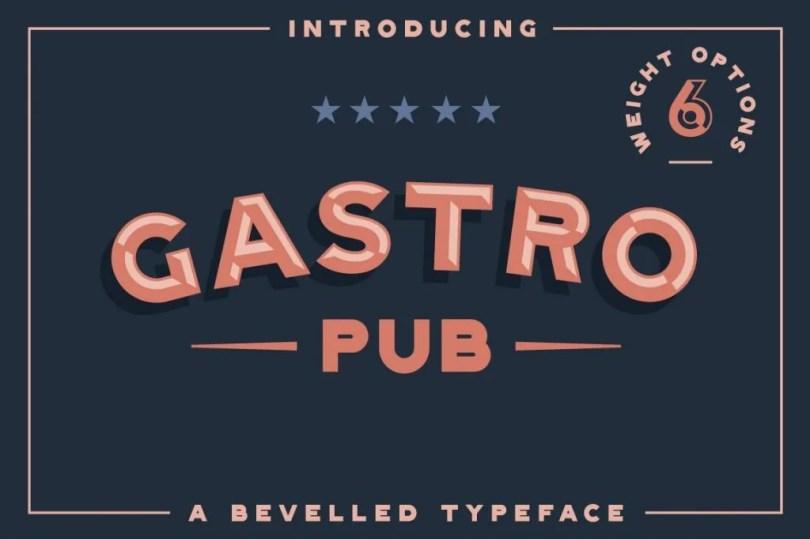 Gastro Pub [6 Fonts]
