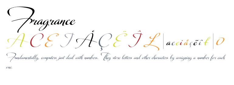 Fragrance [2 Fonts] | The Fonts Master