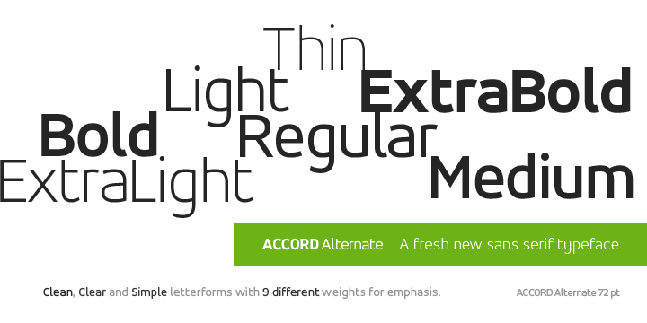 Accord Alternate Super Family [7 Fonts] | The Fonts Master