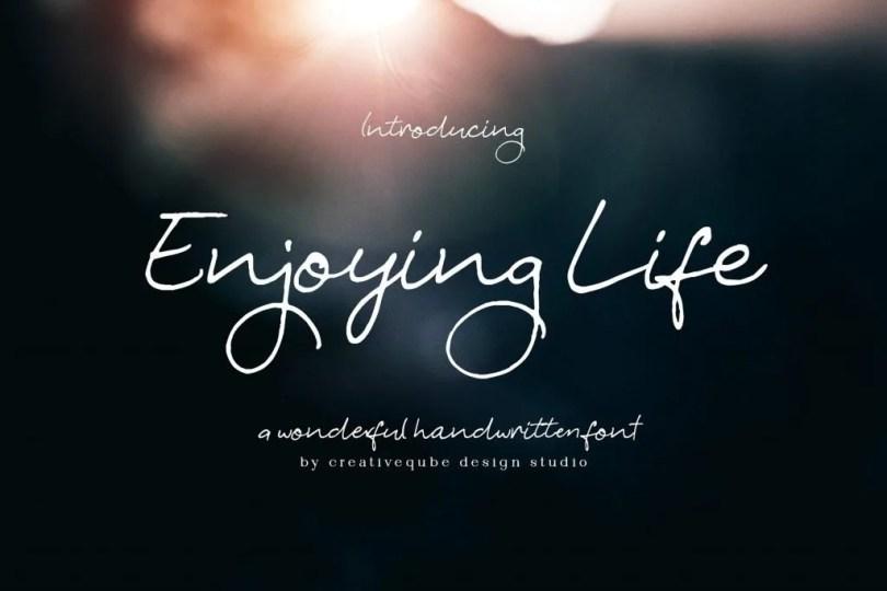 Enjoying Life [2 Fonts]   The Fonts Master
