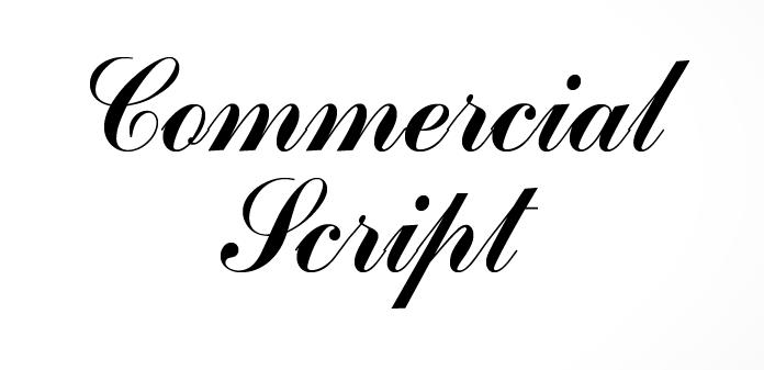 Commercial Script No2 [1 Font] • The Fonts Master