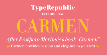 Carmen Super Family [6 Fonts]