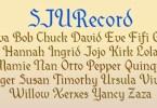 SJURecord [1 Font]