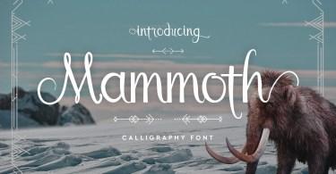 Mammoth [1 Font]