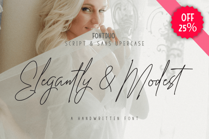 Elegantly & Modest [6 Fonts]