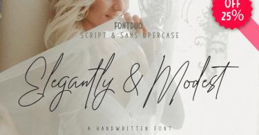 Elegantly & Modest [6 Fonts]