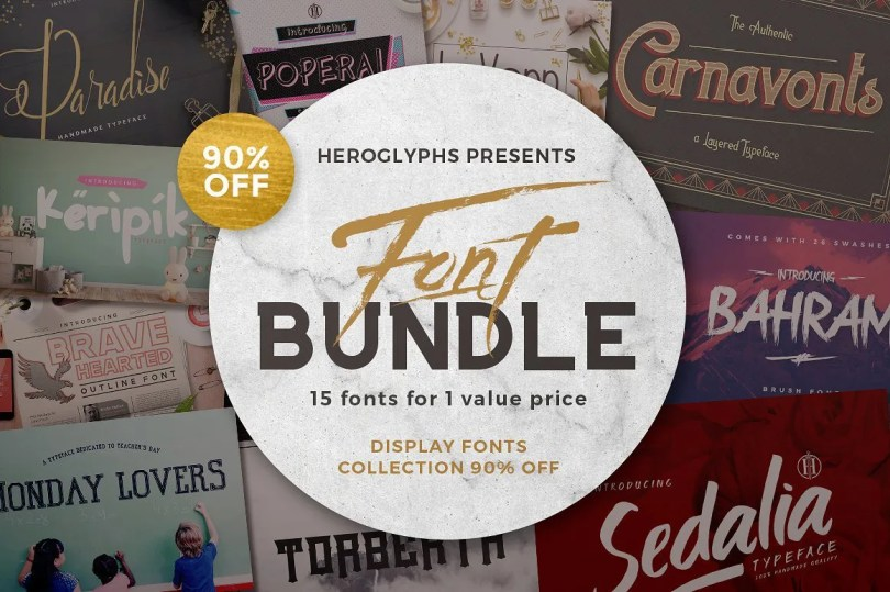 Heroglyphs Display Font Collection [22 Fonts]