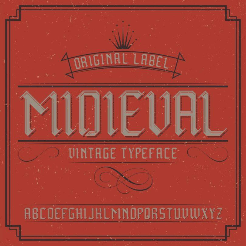 Midieval Vintage Label [6 Fonts] | The Fonts Master