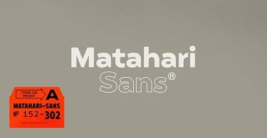 Matahari Sans Super Family [52 Fonts]