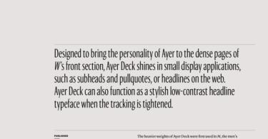 Ayer Deck Super Family [8 Fonts]