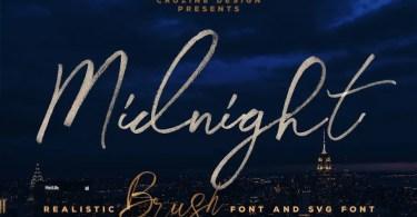 Midnight Brush [4 Fonts]