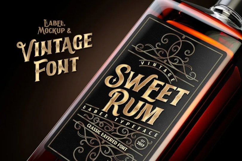 Sweet Rum [3 Fonts]   The Fonts Master