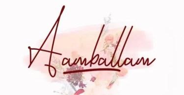 Aambalam [2 Fonts]