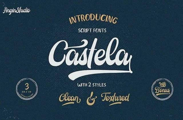 Castela [3 Fonts]   The Fonts Master