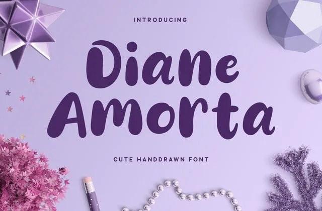 Diane Amorta [1 Font] | The Fonts Master