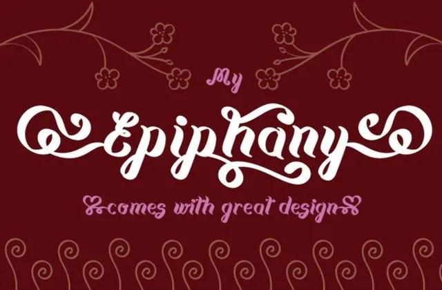 Epiphany [1 Font]   The Fonts Master