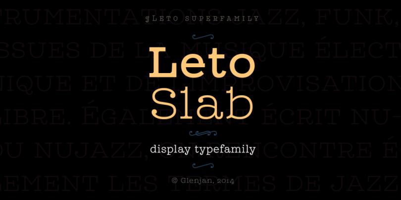 Leto Slab Super Family [21 Fonts]   The Fonts Master