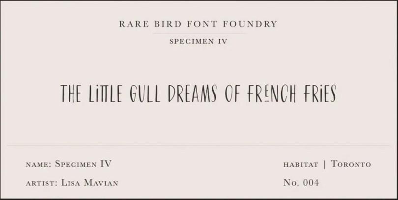 Rare Bird Specimen Iv Super Family [1 Font] | The Fonts Master