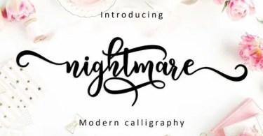 Nightmare Script [1 Font]
