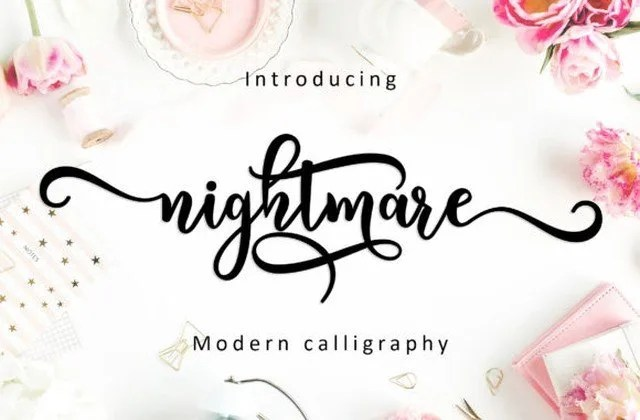 Nightmare Script [1 Font] | The Fonts Master