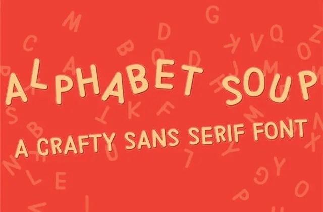 Pn Alphabet Soup [1 Font] | The Fonts Master