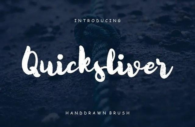 Quicksliver [1 Font]   The Fonts Master